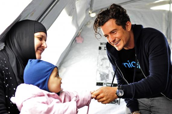 Orlando Bloom is determined to help children around the world