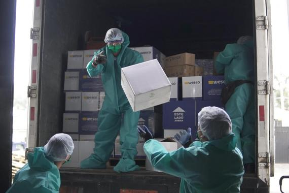UNICEF delivers essential protective supplies and equipment.