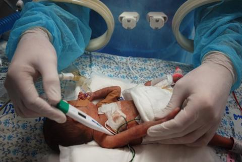 Neonatal unit in Jerusalem