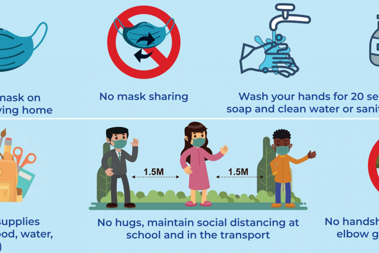 Golden Rules For Preventing The Spread Of Covid 19 Unicef South Africa