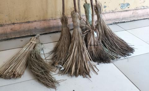 Locally made brooms
