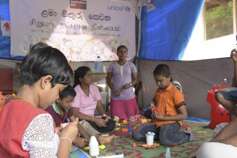 Community centre for children affected by landslides aranayaka
