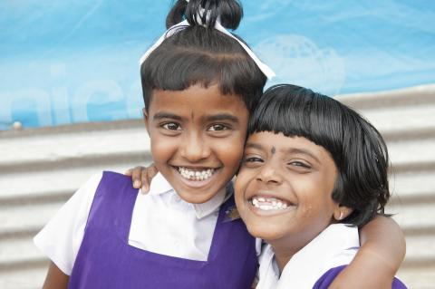 Smiling children in school