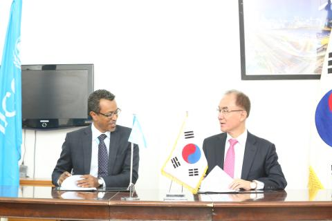 Unicef Rep with Korean Ambassador