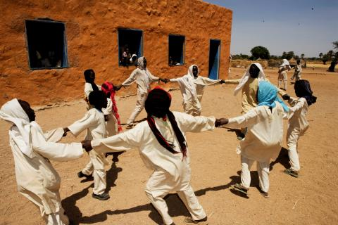 Children playing in sudan
