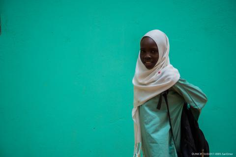 School girl in Sudan