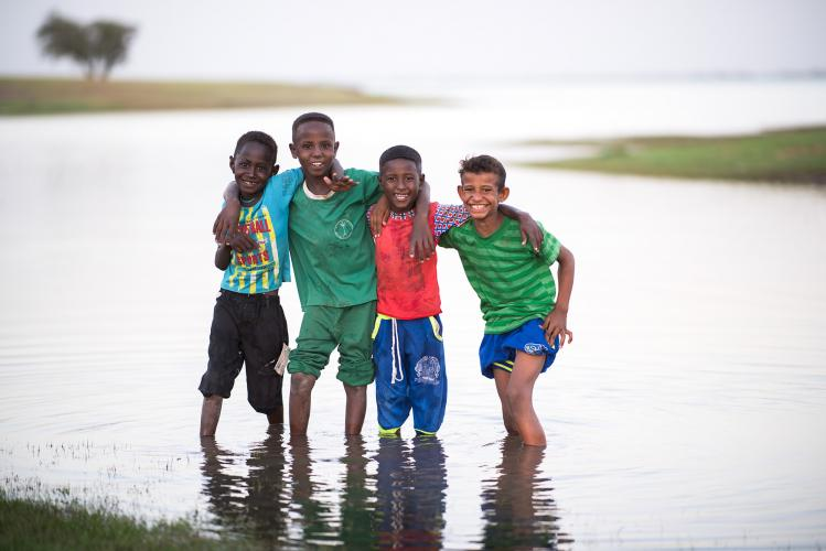 Boys in Sudan