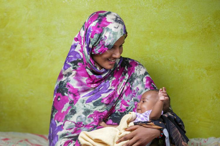 Mother with baby in Sudan