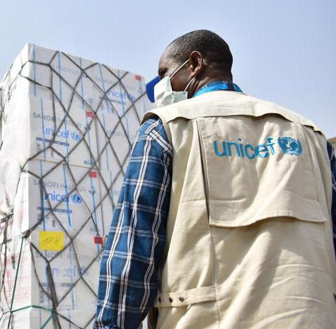 UNICEF Supplies arrive at Nnamdi Azikiwe International Airport in Abuja on 16 April 2020