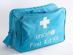 Bag with UNICEF first aid kit