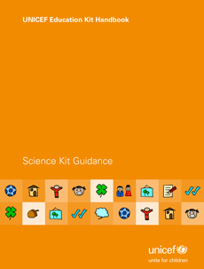 Cover of the UNICEF Education Kit Handbook - Science Kit Guidance