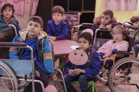 children with disabilities in in a classroom