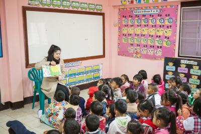 Children at the early childhood development centre of Mae Jo town, Chiang Mai Province