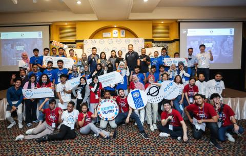 A group photos of young people and UNICEF officers who participated in the Generation Unlimited 2020