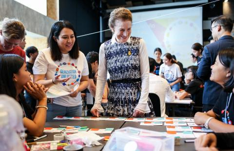 Ms. Henrietta Fore, UNICEF Executive Director interacted with young people as part of the UNICEF's global initiative, Generation Unlimited forum at King Mongkut's University of Technology