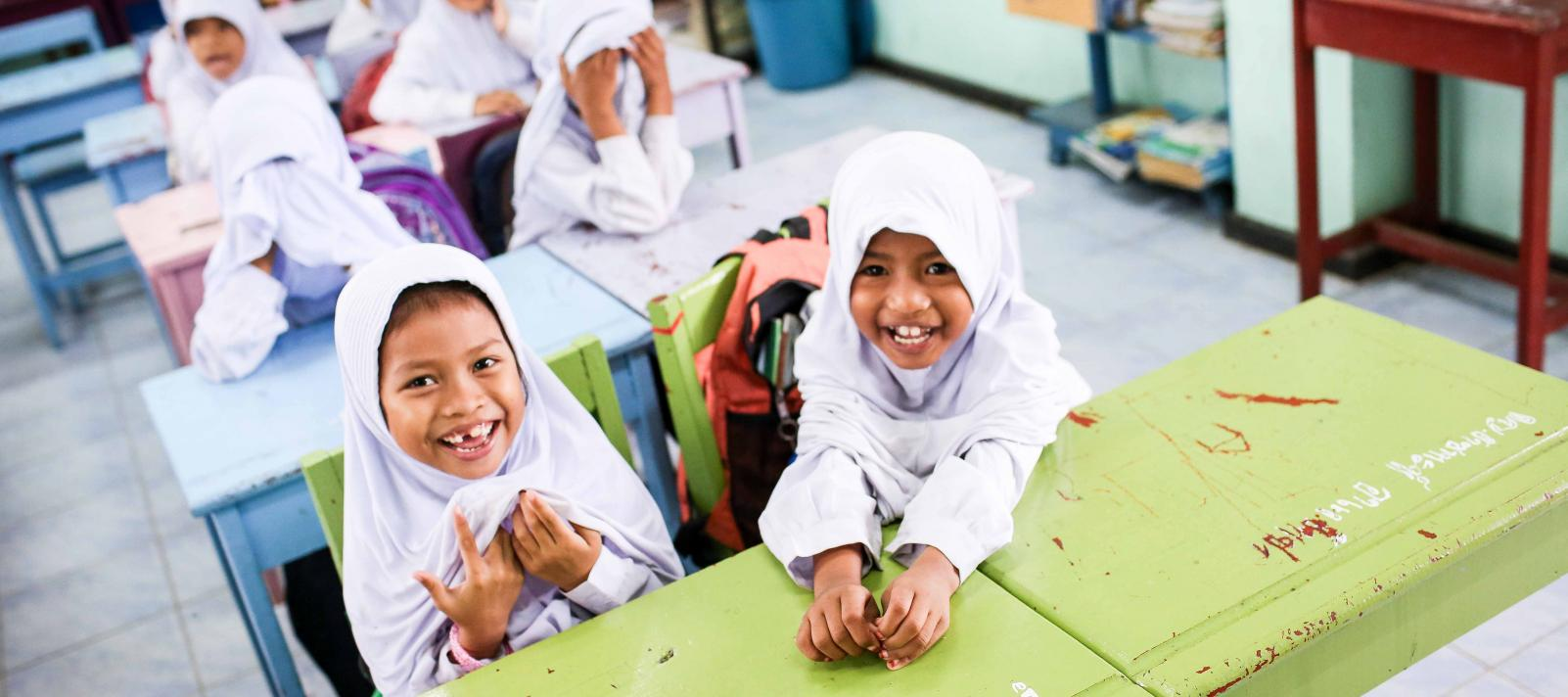 Students in kindergarten in UNICEF-supported Patani Malay-Thai Multilingual Education Programme