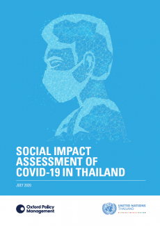 หน้าปกรายงาน Social Impact Assessment of COVID-19 in Thailand