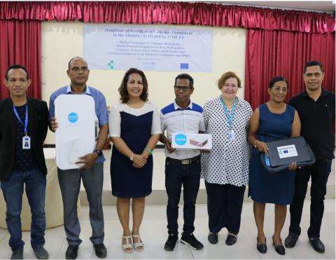 UNICEF hands over equipment to Ministry of Health to help boost child and maternal health and nutrition programming