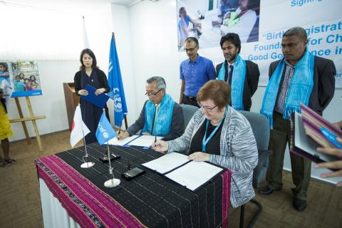 The Government of Japan and UNICEF join hands to enhance birth registration system in Timor-Leste