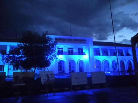 Government of Timor-Leste and UNICEF celebrate World Children's Day by illuminating Palácio do Governo in blue light