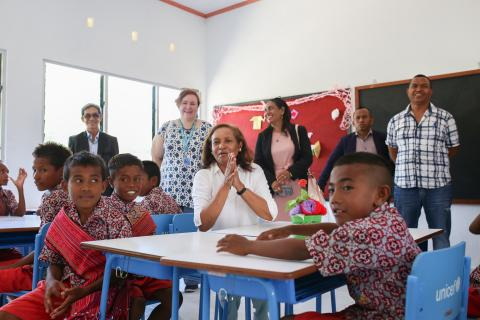 Inauguration of UNICEF-supported school buildings in Caitehu: Efforts to ensure better learning environments for children