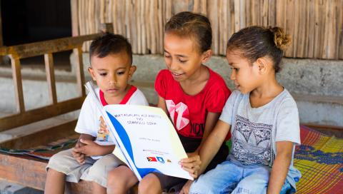 UNICEF and the Ministry of Education provide materials to help children in rural areas continue learning during school closures