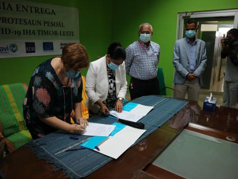 UNICEF Timor-Leste hands over one of the largest ever shipments of personal protective equipment  to the Ministry of Health