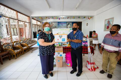 UNICEF provides hygiene kits to help prevent  COVID-19 in residential care facilities for children
