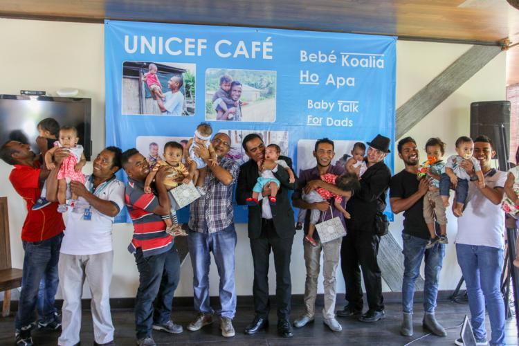 UNICEF cafe on baby Talk for Dads