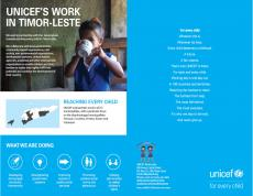 Cover image of UNICEF's work in Timor-Leste