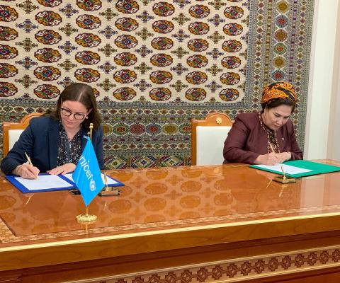 UNICEF signs work plans