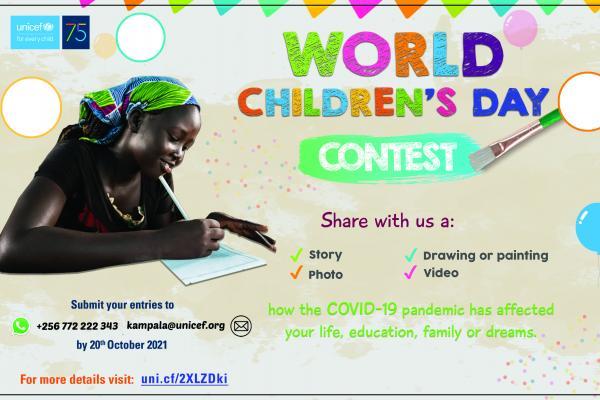 world children's day 2021 child participation, COVID19, COVID-19, world children's day 2021 contest