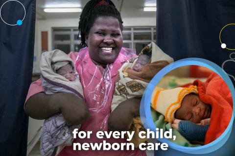 Uganda, health worker, newborn care, UNICEF, newborn health, newborns, mother, maternal health