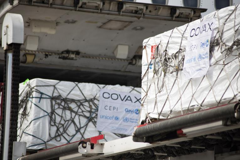 COVID-19 vaccines arrive at Entebbe
