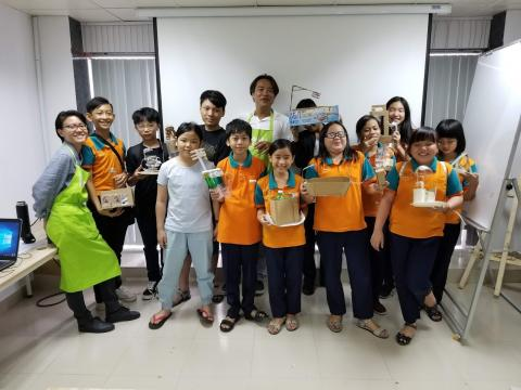 Around 140 children and adolescents in Ho Chi Minh City participate in a product design programme to innovate planet-friendly products