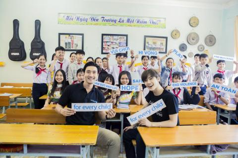 Choi Siwon and Na Jaemin sending message on World Children's Day