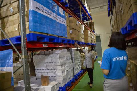 Despite disruptions, UNICEF delivers critical life-saving supplies to over 100 countries in response to the COVID-19 pandemic