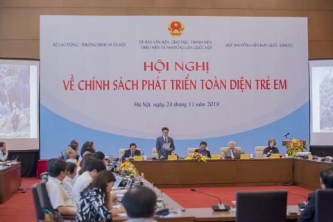 High-level conference to strengthen national policies for the comprehensive development of children
