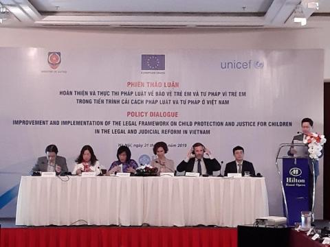 The Child Justice Situation Analysis report launched today in a Policy Dialogue on Child Rights and Child Justice jointly held by the Ministry of Justice, UNICEF and the EU.