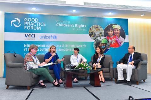 The Good Business Practice Forum co-organized by the Vietnam Chamber of Commerce and Industry (VCCI) and UNICEF