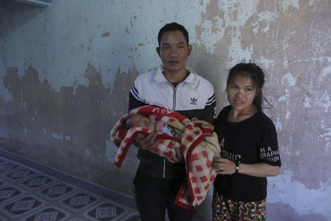 Firs Baby Boy of 2020 of father A Ho and mother YO from Liem Rang, Kon Rieng, Dak Choong, Đak Glei, Kon Tum.