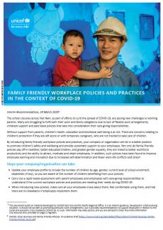 Family friendly workplace policies and practices in the context of COVID-19