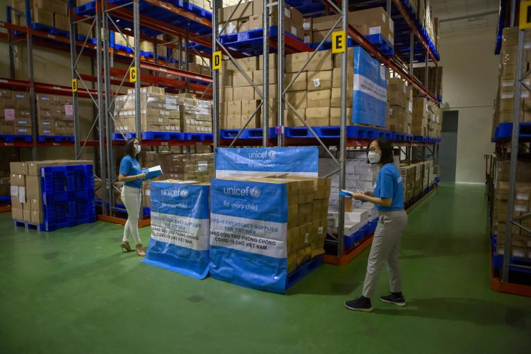 UNICEF Emergency supplies for COVID-19 warehouse