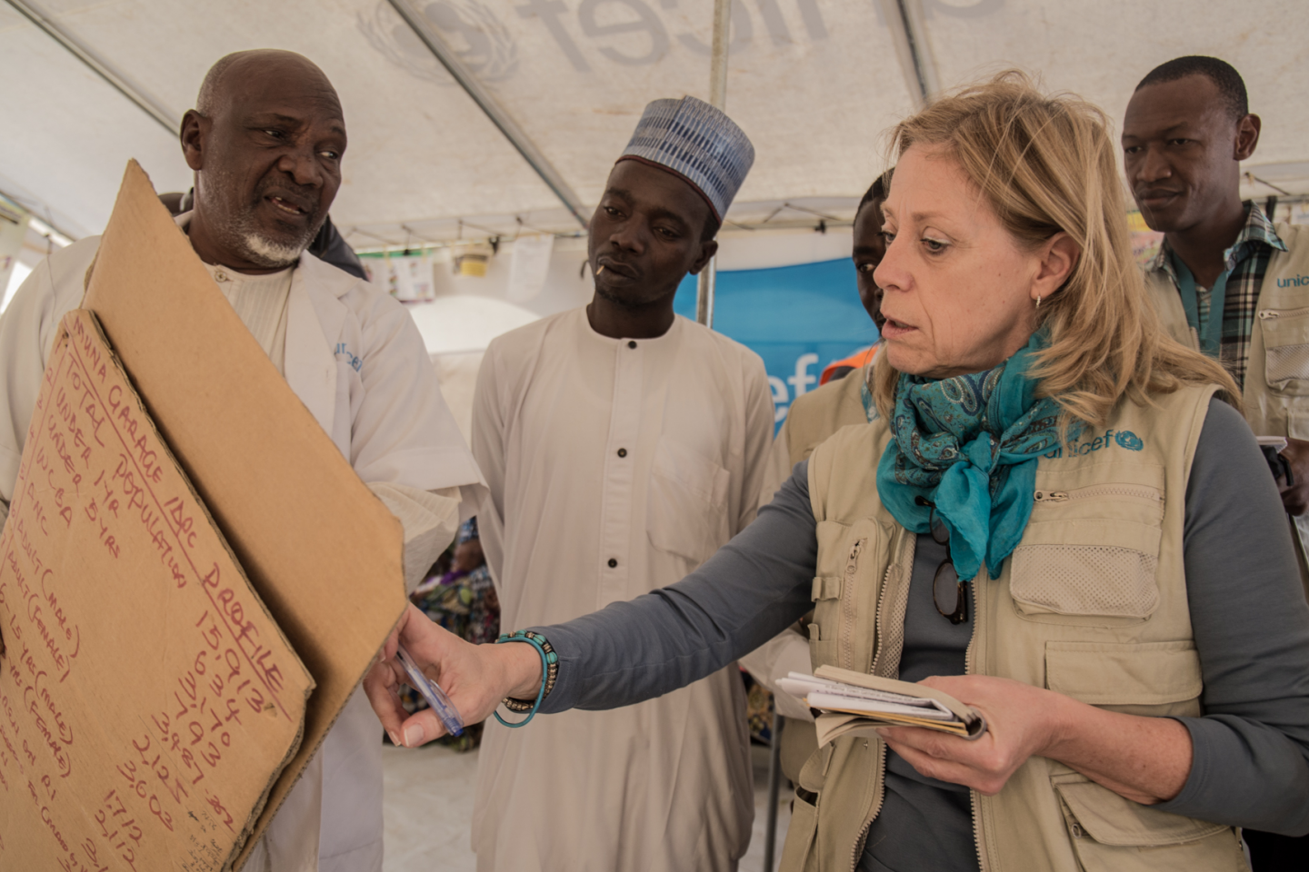 The UNICEF WCARO Region Director in Bama Maiduguri