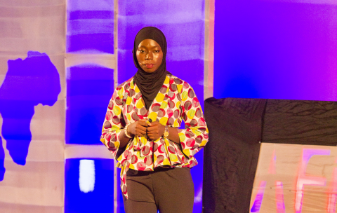 Fatoumatta A. Camara (GAMBIA) on stage