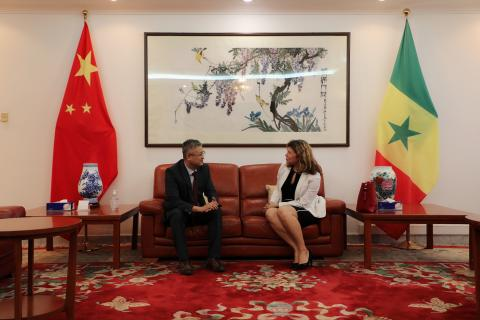 Courtesy visit of UNICEF Senegal Representative to the Chinese Ambassador to Senegal