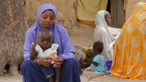 Habisatou and her child - malnutrition