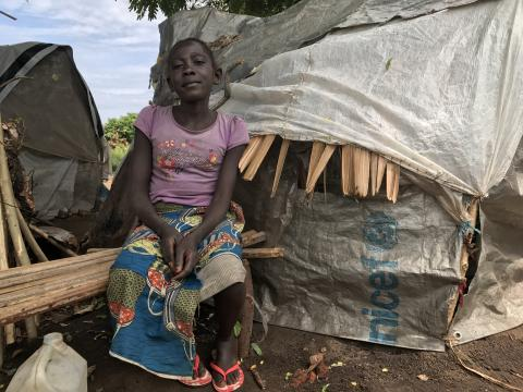 Ngoy saw her mother killed in front of her. She now lives with neighbours at the Monikaymana camp