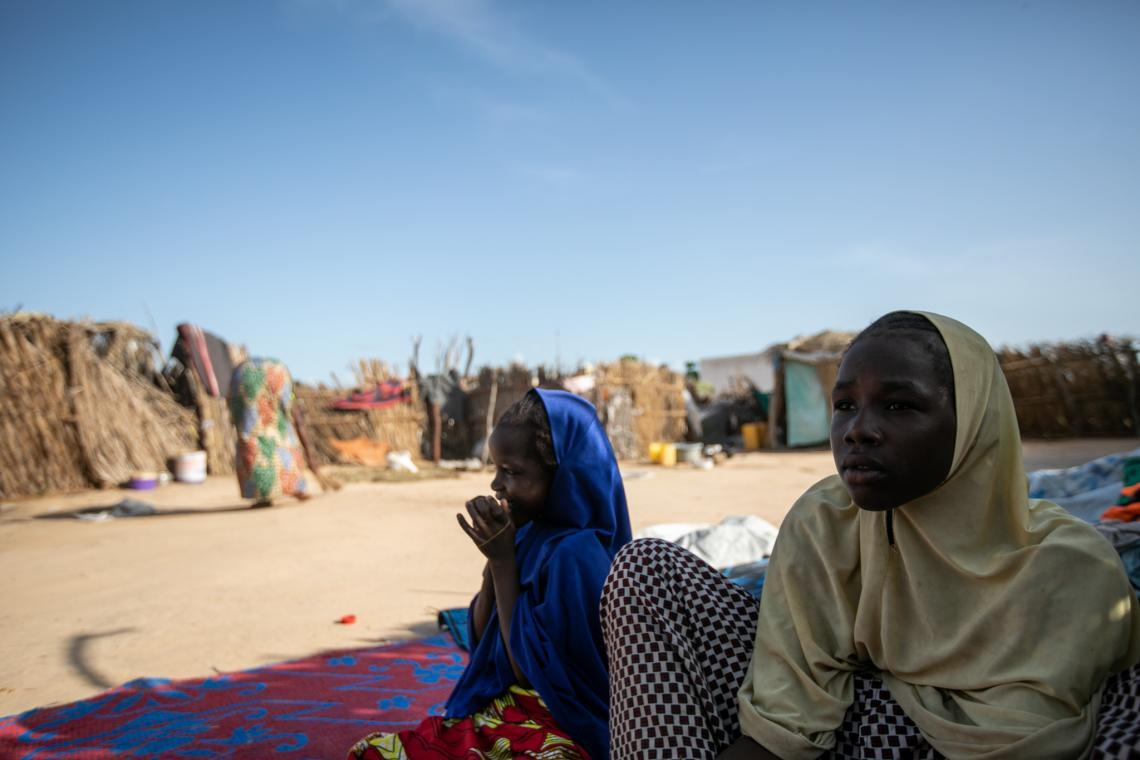 Shadia and Aisha were 9 and 11 years old when their mother died at the displacement site in Lake Chad's Karamga Island.