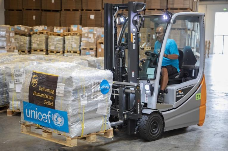 UNICEF is shipping additional 90 tons of health, water and sanitation supplies to help contain the latest outbreak of the Ebola Virus Disease (EVD) in the eastern part of the Democratic Republic of Congo (DRC).